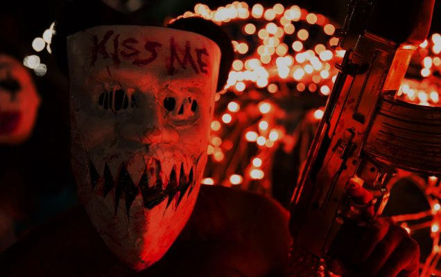 Kimmy kiss me purge mask red wallpaper