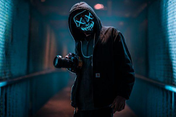 blue led purge mask