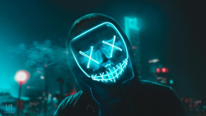 blue led purge mask background