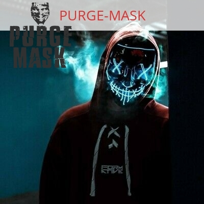 Led Purge Mask Blue That Light Up