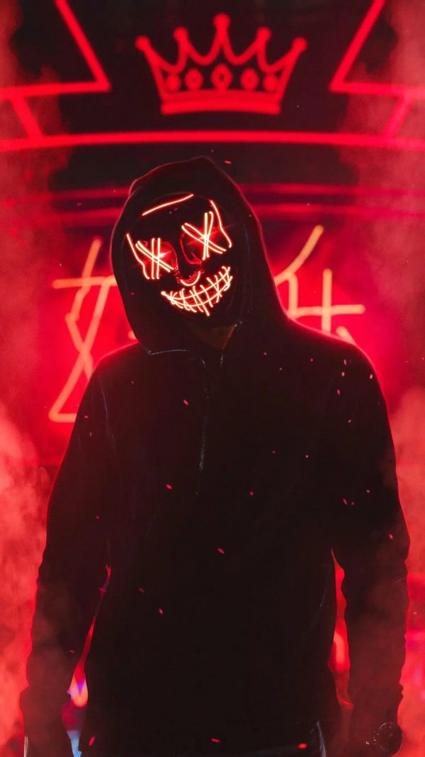 red led purge mask wallpaper