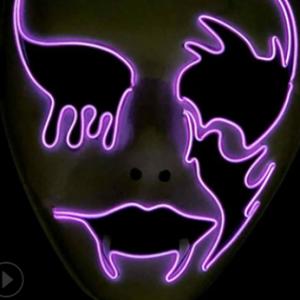 Purge mask led ghost pink
