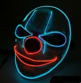 Purge Led Mask Halloween Clown that light up