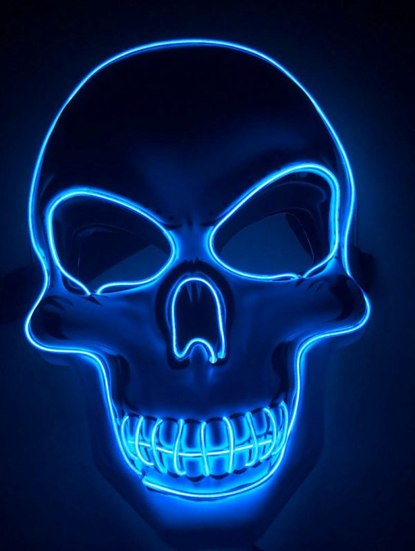 Purge Mask LED Skull Blue