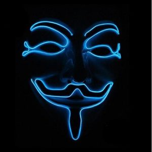V Is For Vendetta Mask Blue LED