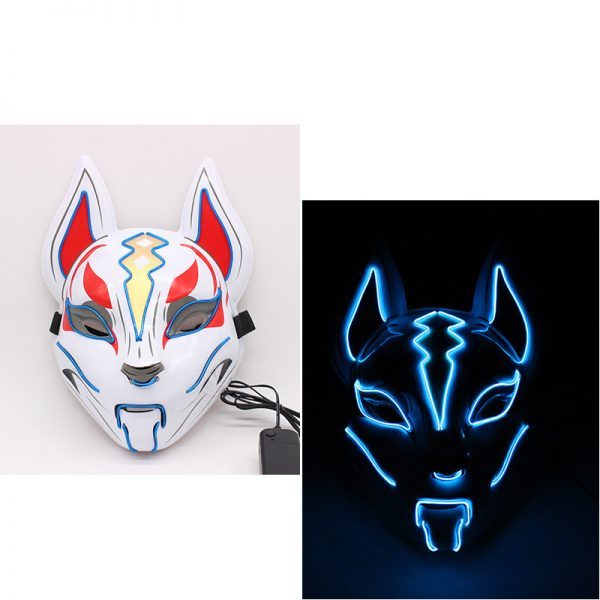 Kitsune Led Mask Blue like a fox