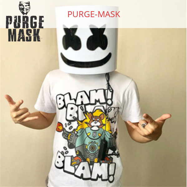 Marshmallow mask Placed on the face