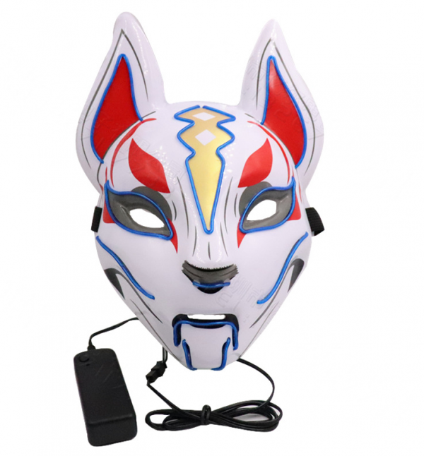 light off kitsune mask