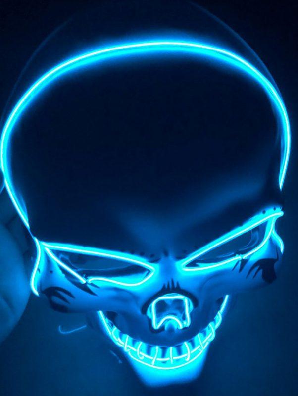 Blue Skull Purge Mask