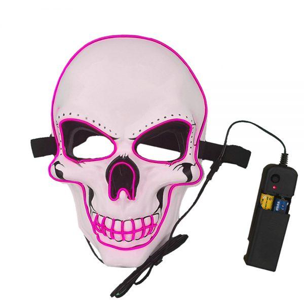 Halloween Led Skull Mask Pink