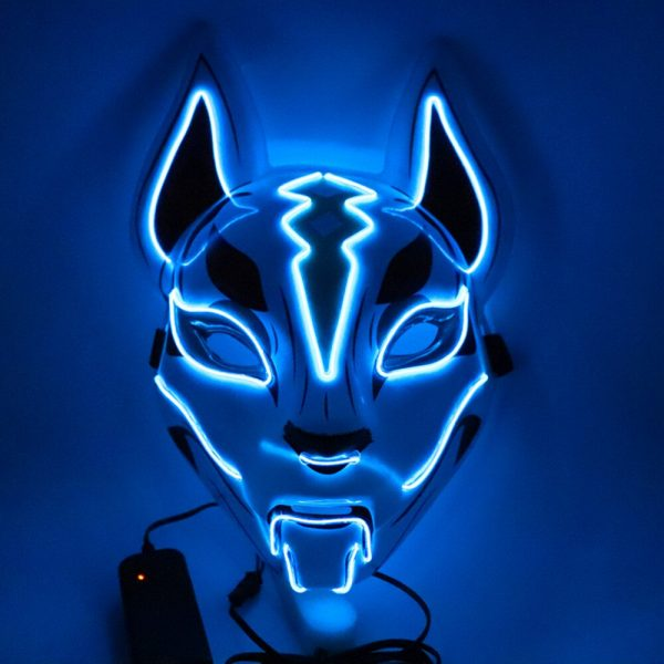Kitsune Led Mask Blue