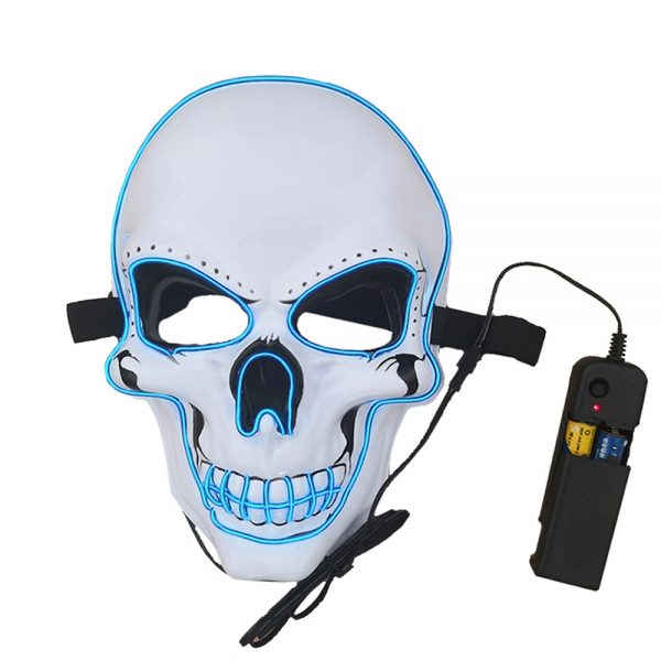 Purge Mask LED Blue Skull The Scariest