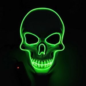 Purge Mask LED Skull Green