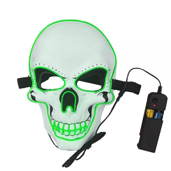 Purge Mask LED Skull Green with a remote controler