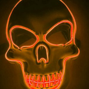 Purge Mask LED Skull Orange