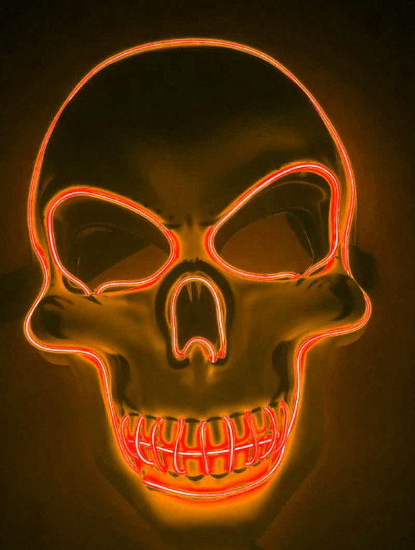 Purge Mask LED Skull Orange