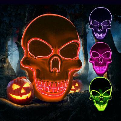 Purge Mask LED Skull Orange for halloween
