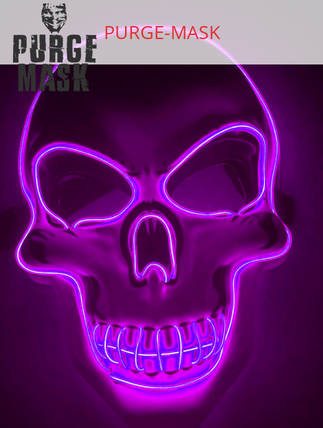 Purge Mask LED Skull Purple