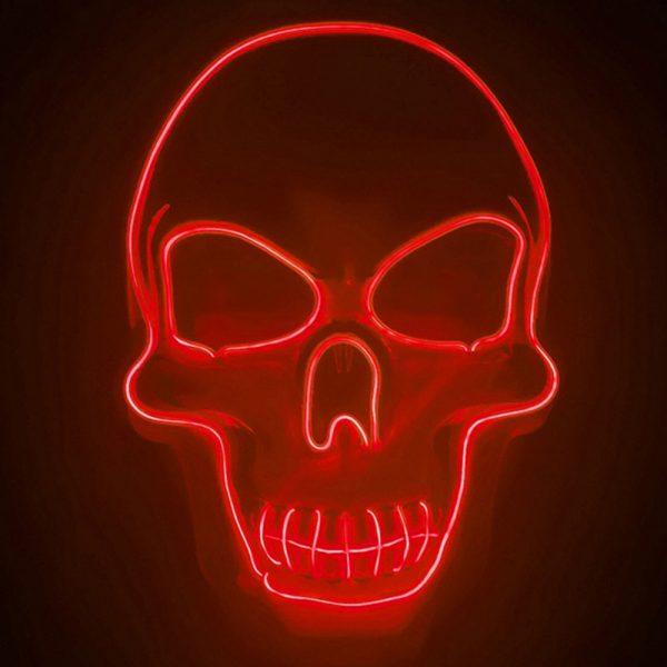 Purge Mask LED Skull Red