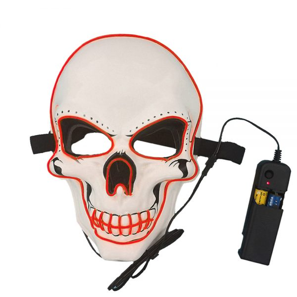 Purge Mask LED Skull Red with a remote controller