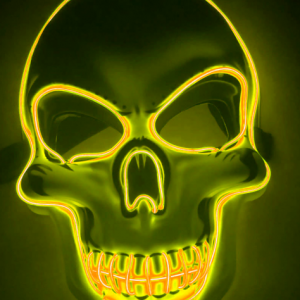 Purge Mask LED Skull Yellow