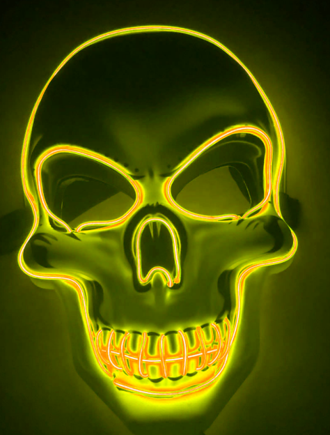 Purge Mask LED Skull Yellow