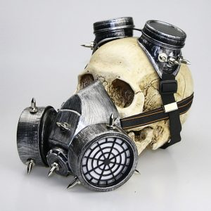 Silver purge gas mask