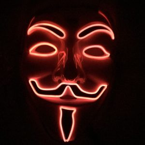 V For Vendetta Mask Red LED
