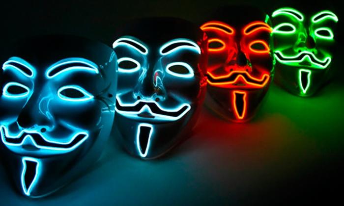 blue led v is for vendetta mask