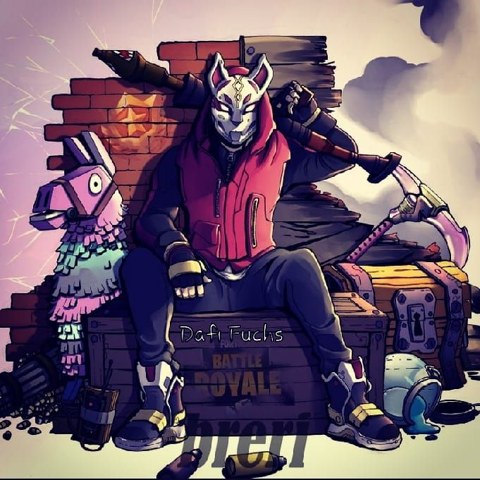 fortnite kitsune mask wallpaper by dafi fuchs