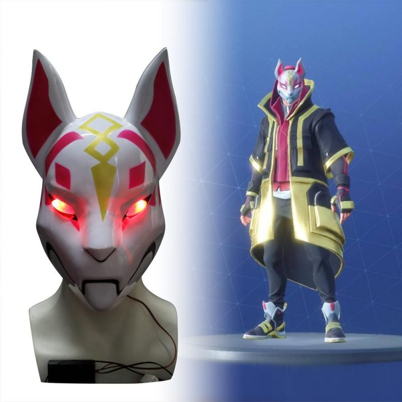 fortnite kitsune mask with led