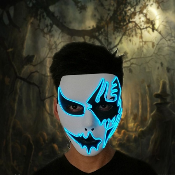 ghost halloween blue led mask