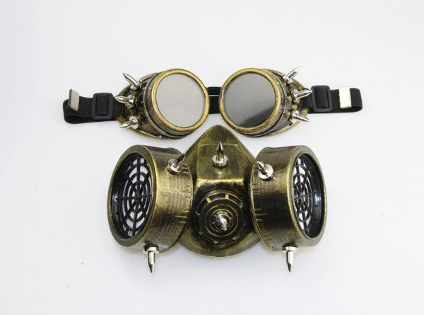 Purge Halloween Mask Gas Gold