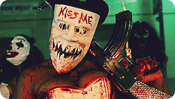 gold ak-47 purge election year kiss me mask girl
