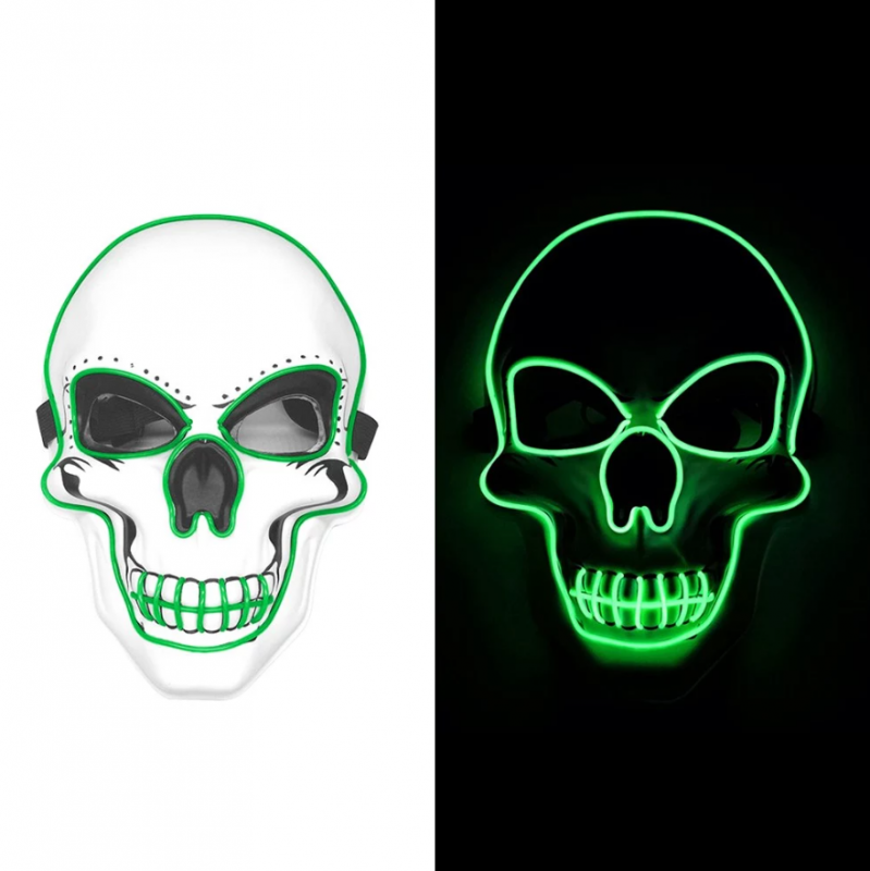 green LED light up purge mask skull