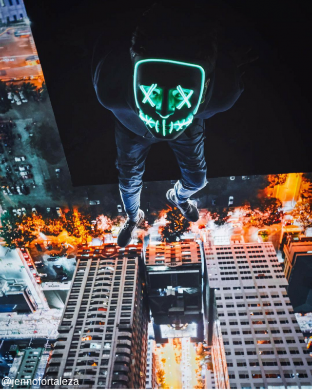 green light up purge mask