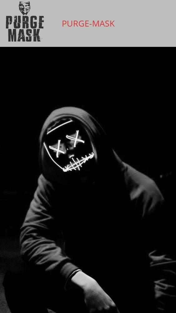 halloween costume led purge mask