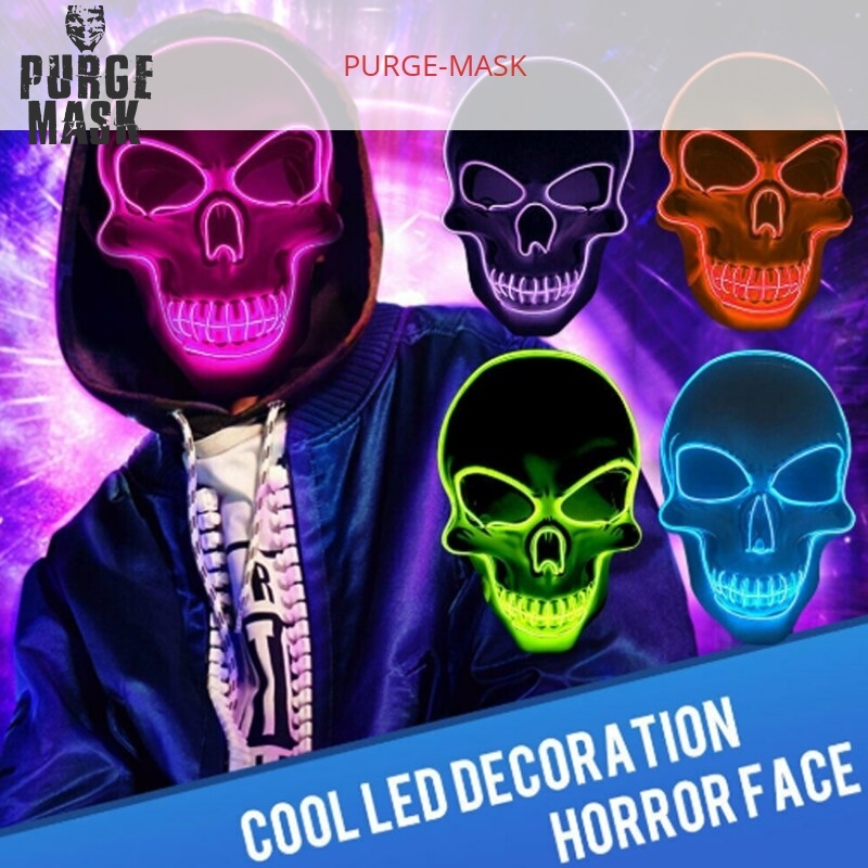 horror skull led purge mask
