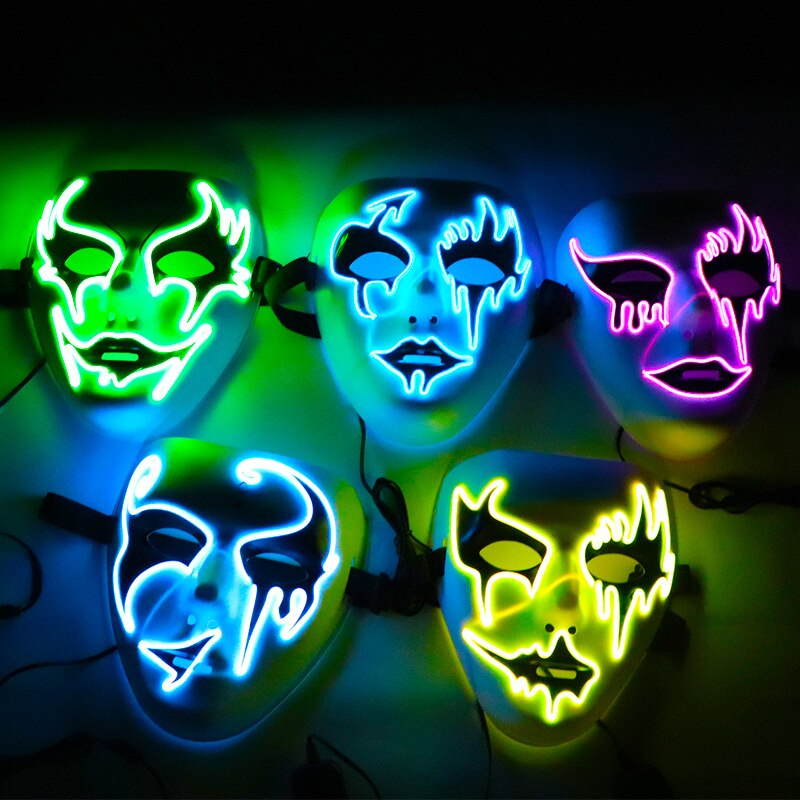 led light up ghost mask collection on our online shop