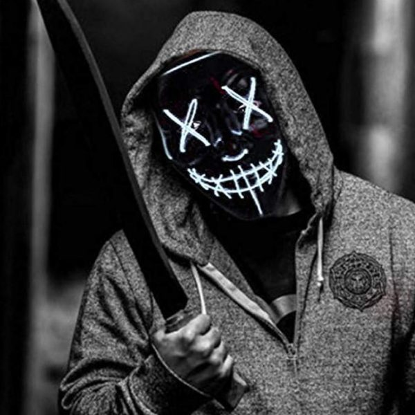 led purge mask light up for halloween