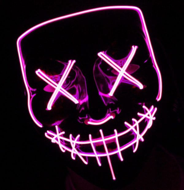led purge mask pink that light up