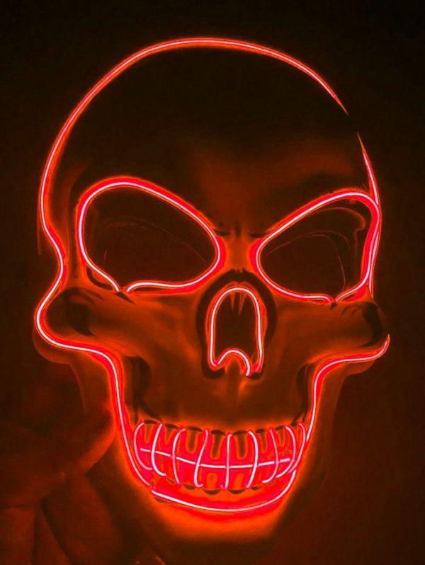 led skull mask that light up for the purge