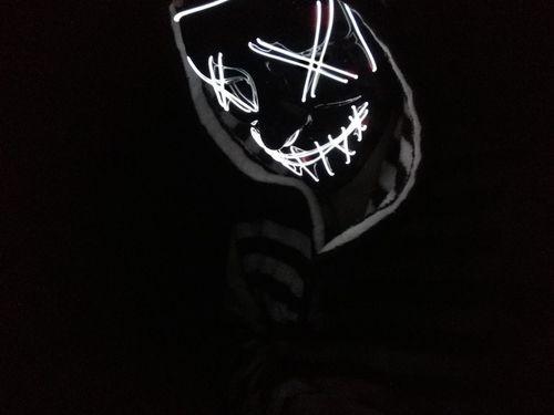 led white purge mask light up