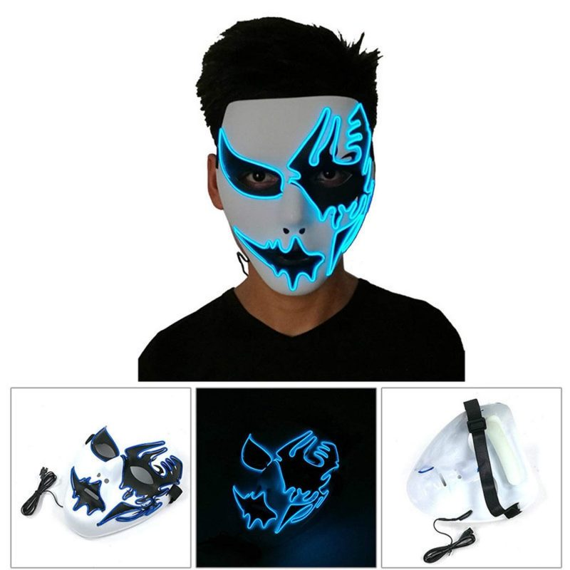 light up blue ghost mask