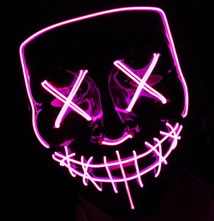 light up purge mask rose