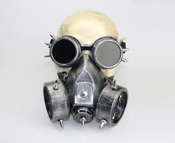 purge gas mask silver