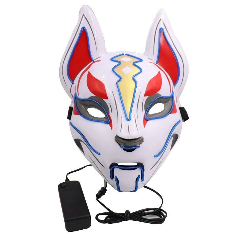 purge kitsune mask with light up