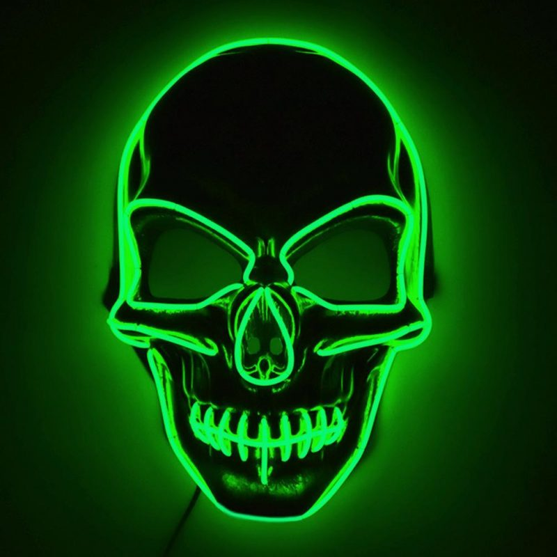purge mask led nz skull green