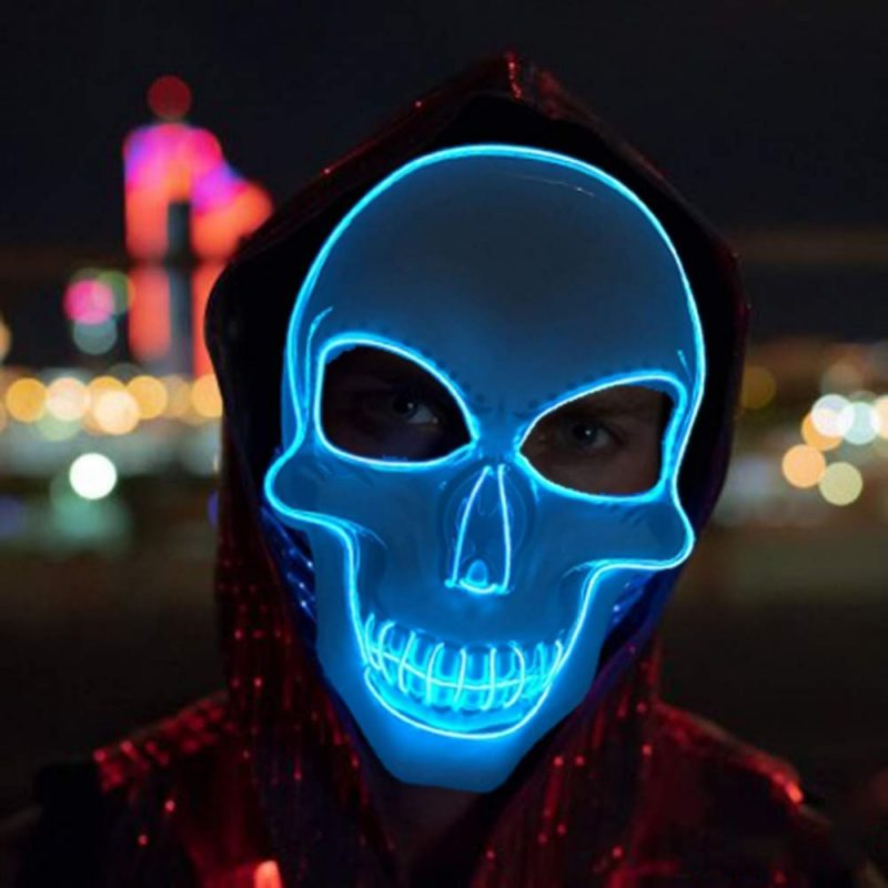 purge mask light up blue for halloween