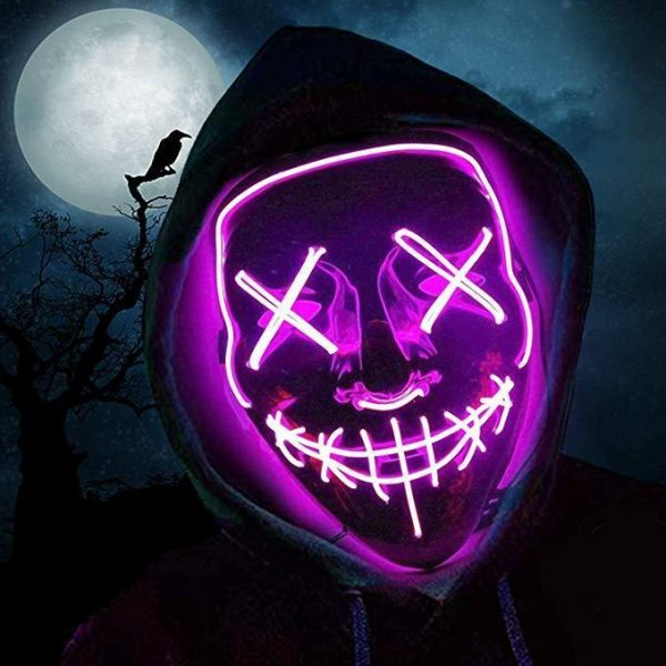 purple led purge mask costume for halloween